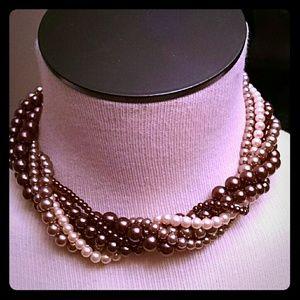 Short multi strand necklace
